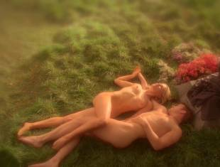 anna paquin nude in daylight grass on true blood 7365 5