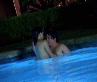 brigette davidovici nude for a seductive swim on californication 2482 2