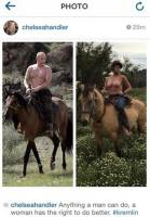 chelsea handler topless on a horse in instagram protest 9114 1