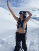 chelsea handler topless on snowy mountain ski trip 3260 1
