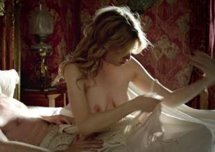 clemence poesy topless in bed from birdsong   2179 16