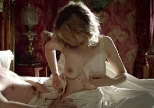 clemence poesy topless in bed from birdsong   2179 22