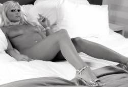 daniela katzenberger nude in black and white 5162 1