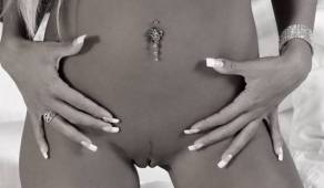daniela katzenberger nude in black and white 5162 4