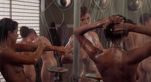 dina meyer topless starship troopers shower 9491 1
