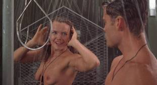 dina meyer topless starship troopers shower 9491 17