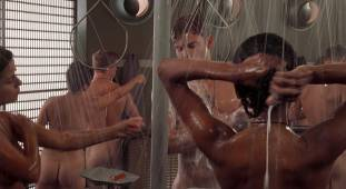 dina meyer topless starship troopers shower 9491 3