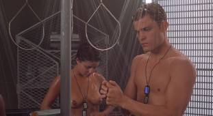 dina meyer topless starship troopers shower 9491 7