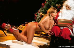 dora meszaros nude for santa in playboy hungary 3233 5