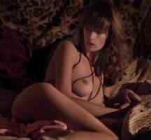eliza sys nude in bed lights up our flame 9589 14