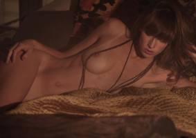 eliza sys nude in bed lights up our flame 9589 15