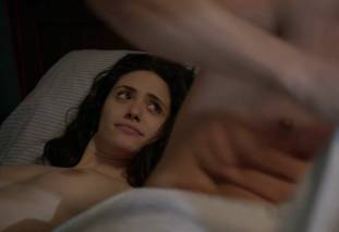 emmy rossum topless after sex in bed on shameless 8119 21