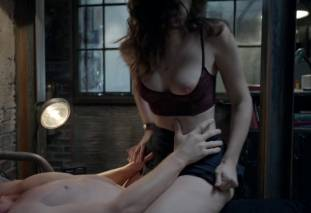 emmy rossum topless breast pops out of bra on shameless 7569 15