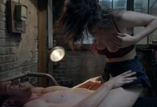 emmy rossum topless breast pops out of bra on shameless 7569 16