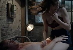 emmy rossum topless breast pops out of bra on shameless 7569 19