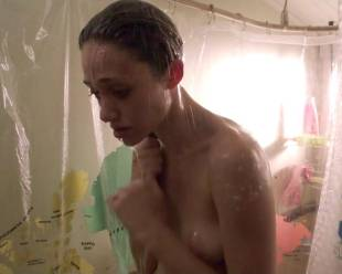 emmy rossum topless in the shower from shameless 6324 11