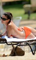 eva longoria nipple slip out of bikini in puerto rico 9578 8