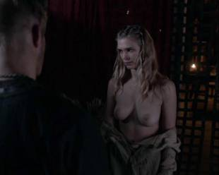 gaia weiss topless for a flash on vikings 4790 10
