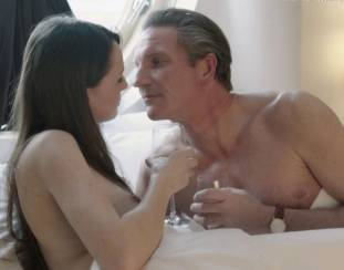 gaite jansen topless for flash and drink in bed in tricked 4266 15