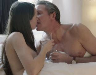 gaite jansen topless for flash and drink in bed in tricked 4266 16