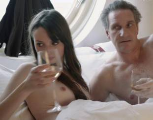 gaite jansen topless for flash and drink in bed in tricked 4266 17