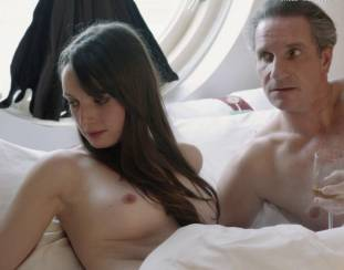 gaite jansen topless for flash and drink in bed in tricked 4266 18