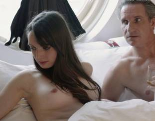 gaite jansen topless for flash and drink in bed in tricked 4266 19