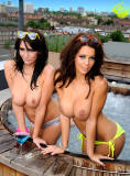 holly peers topless and ready to get wet with peta todd 2604 10