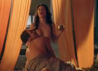 jaime murray nude to have her breasts sucked on spartacus 1257 19