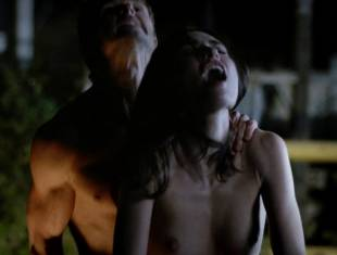 karolina wydra topless on hood of car on true blood 0652 11