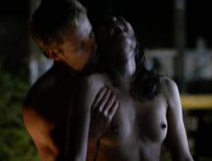 karolina wydra topless on hood of car on true blood 0652 15
