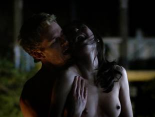 karolina wydra topless on hood of car on true blood 0652 16