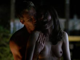 karolina wydra topless on hood of car on true blood 0652 17