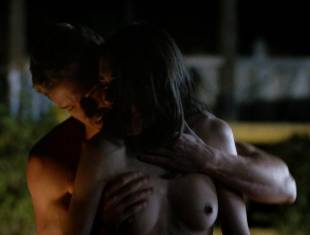 karolina wydra topless on hood of car on true blood 0652 19