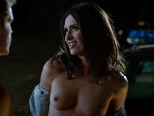 karolina wydra topless on hood of car on true blood 0652 2