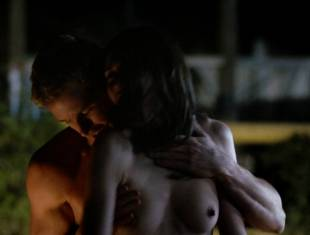 karolina wydra topless on hood of car on true blood 0652 20