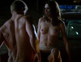 karolina wydra topless on hood of car on true blood 0652 21