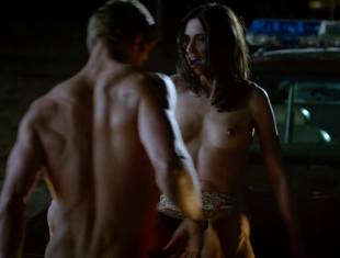 karolina wydra topless on hood of car on true blood 0652 22
