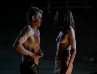 karolina wydra topless on hood of car on true blood 0652 4