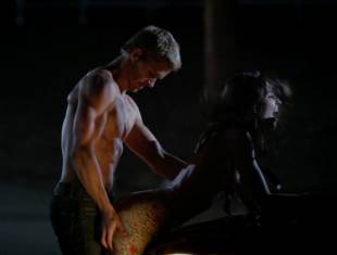 karolina wydra topless on hood of car on true blood 0652 6