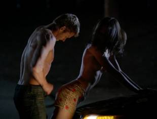 karolina wydra topless on hood of car on true blood 0652 7
