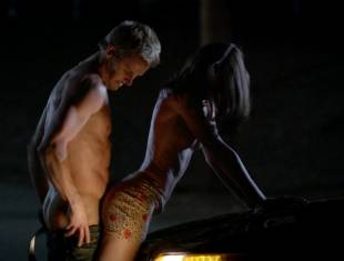 karolina wydra topless on hood of car on true blood 0652 9