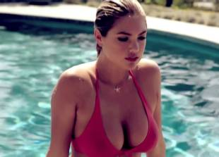 kate upton nipples stand proudly in see through wet top 5602 6