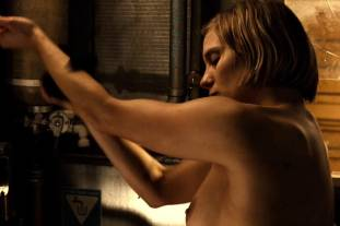 katee sackhoff topless to clean up on riddick 9824 10