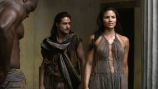 katrina law topless because she wont go quietly on spartacus 0661 15