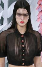kendall jenner bares breasts in see through on runway 5970 8
