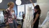 kendra wilkinson topless to try on her wedding gown 6383 1