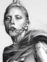 lady gaga topless with shirt off for vogue italy 4055 8