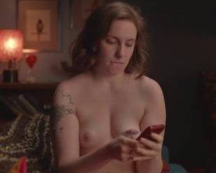 lena dunham topless for a cell phone photo pose 7594 10