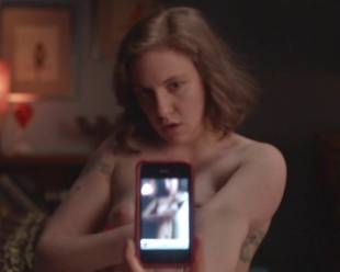 lena dunham topless for a cell phone photo pose 7594 17